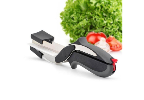 2-IN-1 CLEVER CUTTER KNIFE - BLACK.