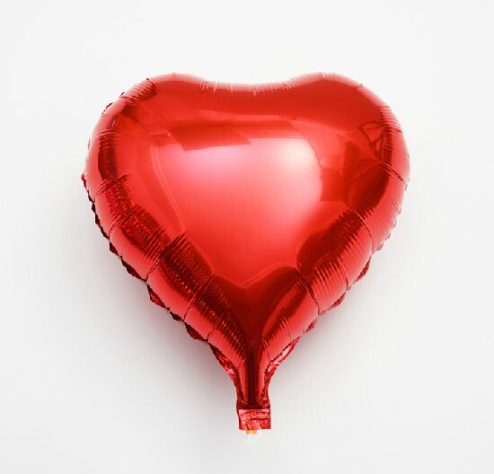 red foil Heart shape balloons 18 inch