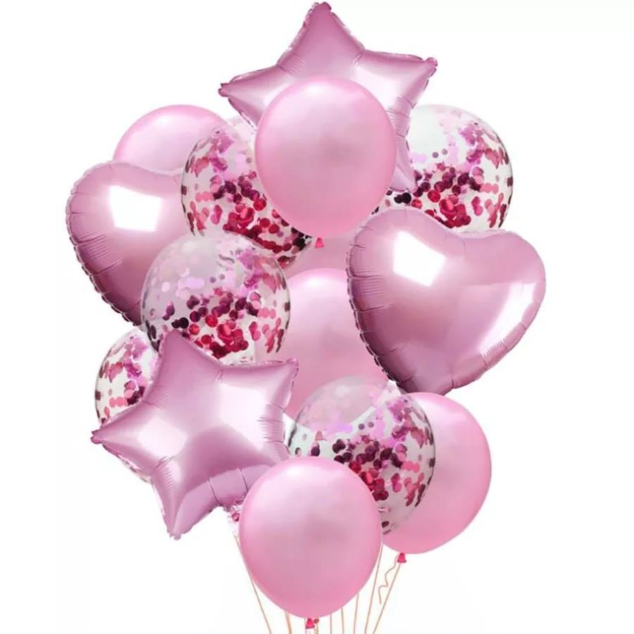 Party balloons set  color -light pink