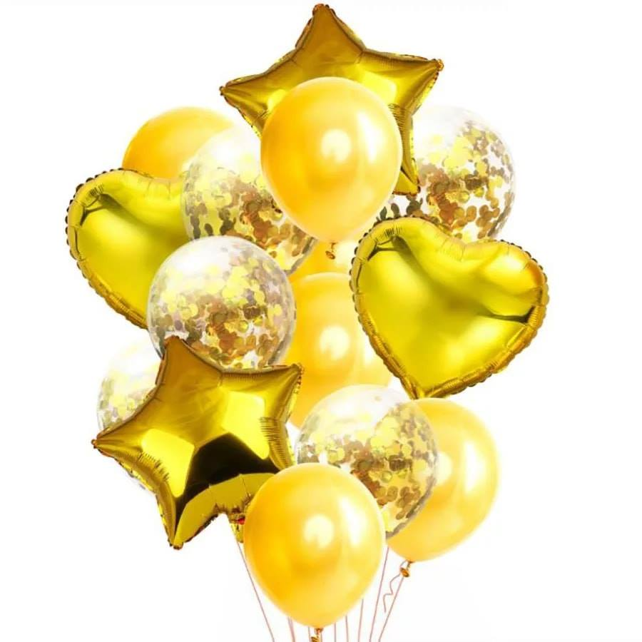 Party balloons set  color -golden