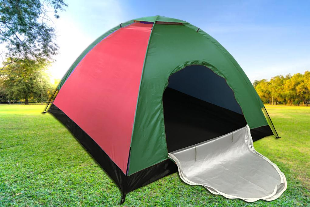 King Camp 3-Person 2-Season Camping Tent Portable Outdoor Blue/Green/Red