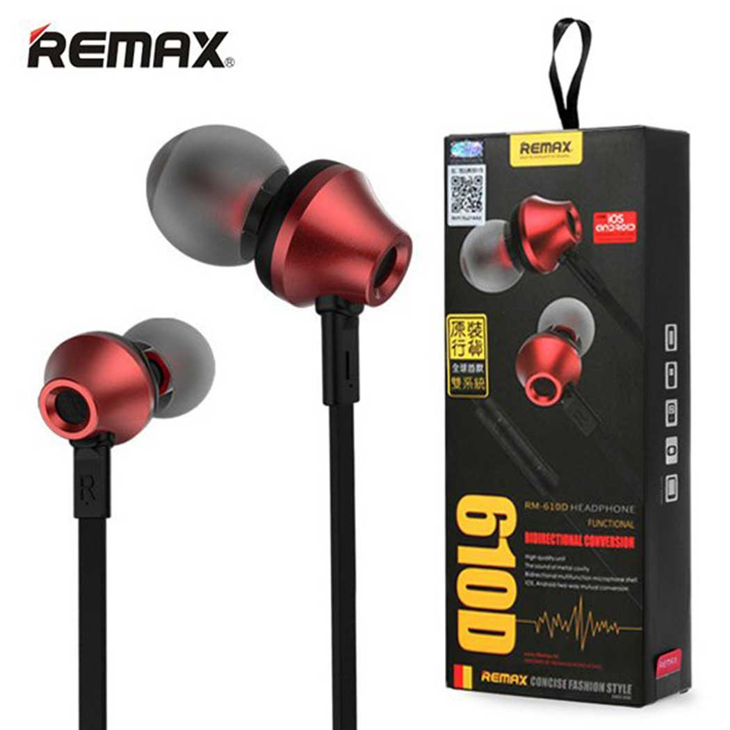REMAX 610D STEREO MUSIC IN EAR SUPER BASS EARPHONE