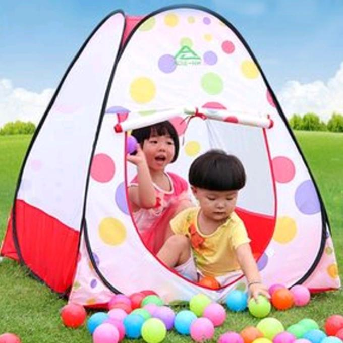 Tent Play House With 50 Balls- White and Red