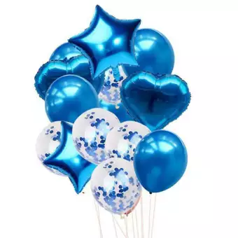Party balloons set  color -blue