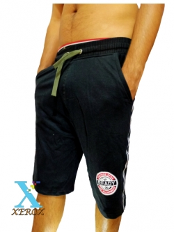Black Mans Comfortable Cotton Cargo Shorts Half Pants