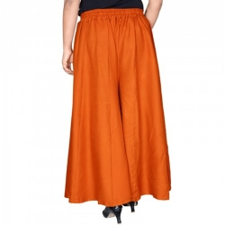 Stylish Straight plain Linen Plazo For Women Solid Skirt Palazzos for ladies Multi color