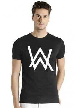 Cotton Black T-shirt For Men WWE